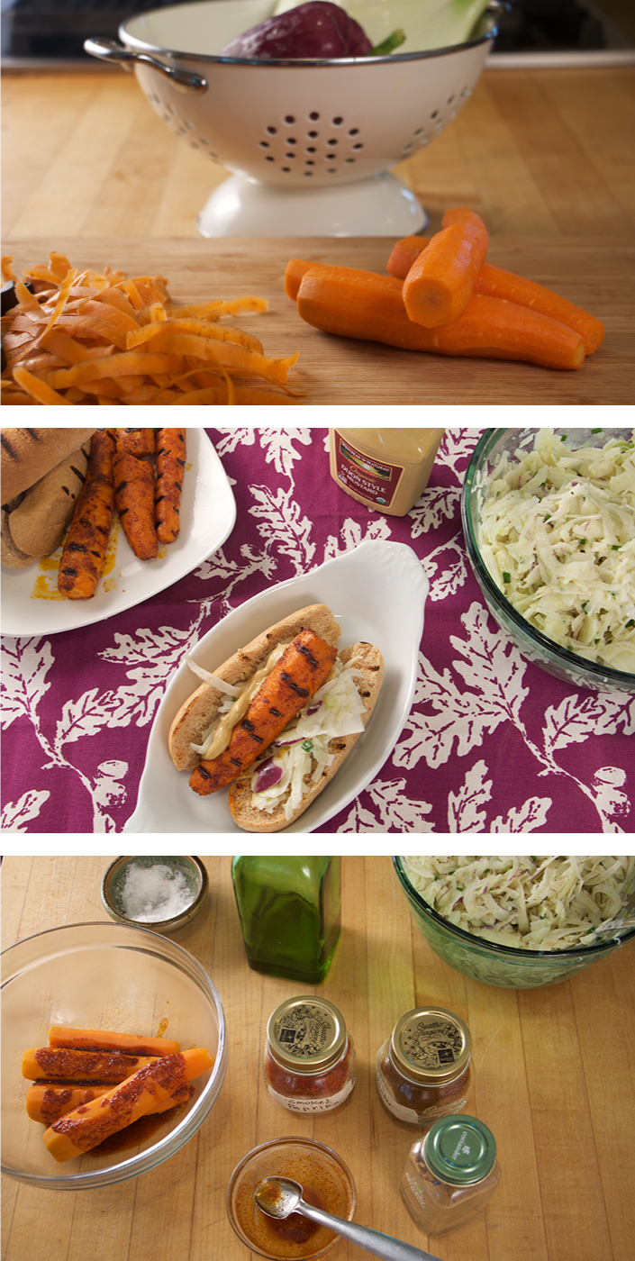 Carrot Hot Dogs - a perfect vegetarian option for the grill!